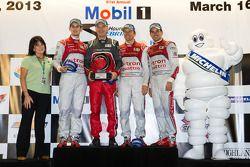 Michelin Green X challenge: protótipo vencedores Marcel Fässler, Benoit Tréluyer, Oliver Jarvis