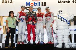 Michelin Green X challenge: prototype winners Marcel Fässler, Benoit Tréluyer, Oliver Jarvis