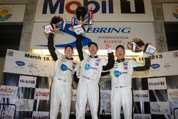 GT podium: class winners Oliver Gavin, Tom Milner, Richard Westbrook