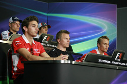 FIA, Conferência de Imprensa: Kimi Raikkonen, Lotus F1 Team; Valtteri Bottas, Williams; Max Chilton, Marussia F1 Team; Giedo van der Garde, Caterham F1 Team; Esteban Gutierrez, Sauber; Jules Bianchi, Marussia F1 Team
