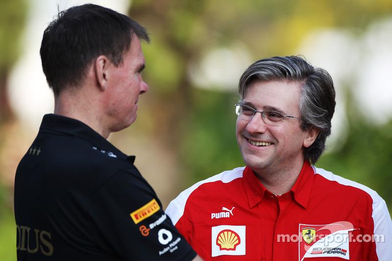 Alan Permane, Renault Race Engineer met Pat Fry, Ferrari Deputy Technical Director en Head of Race Engineering
