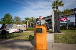 Dan Wheldon Memorial and Victory Circle unveiling ceremony: President of Race Operations of IndyCar