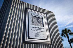 Dan Wheldon Memorial and Victory Circle unveiling ceremony: Dan Wheldon Memorial detail
