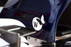 Detalhe da asa dianteira do Williams FW35