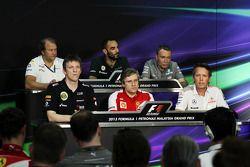 Coletiva da FIA, Sahara Force India F1 Team Sub-chefe de equipe; James Allison, Lotus F1 Team Direto
