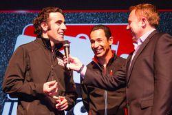 Rijderspresentatie: Dario Franchitti, Target Chip Ganassi Racing Honda en Helio Castroneves, Team Pe