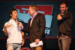 Rijderspresentatie: Takuma Sato, A.J. Foyt Enterprises Honda en EJ Viso, Team Venezuela / Andretti A