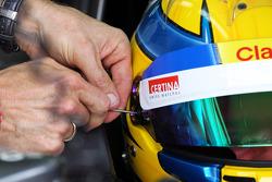 Esteban Gutierrez, Sauber helmet visor strip wordt vervangen