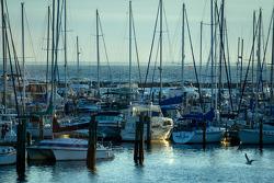Nascer do sol em St. Pete marina