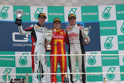 Podium: race winner Fabio Leimer, second place James Calado, third place Stefano Coletti