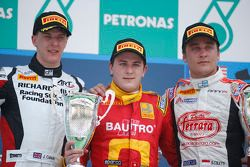 Podium: 1er Fabio Leimer, 2e James Calado, 3e Stefano Coletti