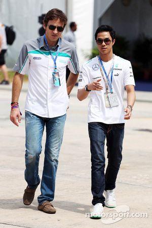 Jazeman Jaafar, Mercedes AMG F1 com Bruce Jouanny, Coach de piloto