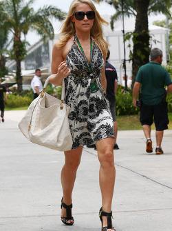 La novia de Adrian Sutil, del Equipo Sahara Force India F1