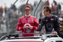 Scott Dixon, Target Chip Ganassi Racing Honda en Sébastien Bourdais, Dragon Racing Chevrolet