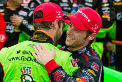 Victory circle: race winner James Hinchcliffe, Andretti Autosport Chevrolet celebrates with Marco An