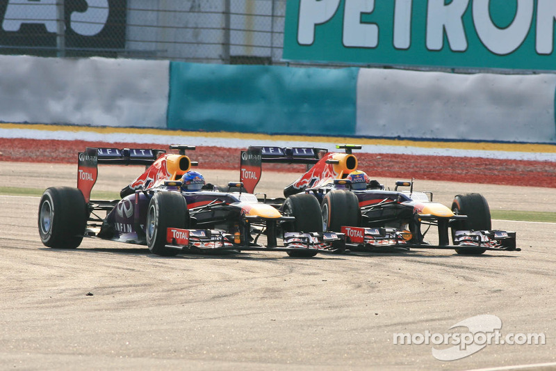 Mark Webber, Red Bull Racing RB9 et Sebastian Vettel, Red Bull Racing RB9