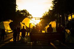 Desfile de rua para o GP de St. Petersburg