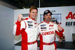 Иван Мюллер и Том Чилтон. Монца, суббота, после гонки.