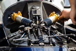 Suspension detail on the car of Simona de Silvestro, KV Racing Technology Chevrolet