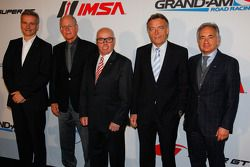 From left, Jens Marquardt, Director, BMW Motorsport, Jim France, Executive Vice President/Secretary,