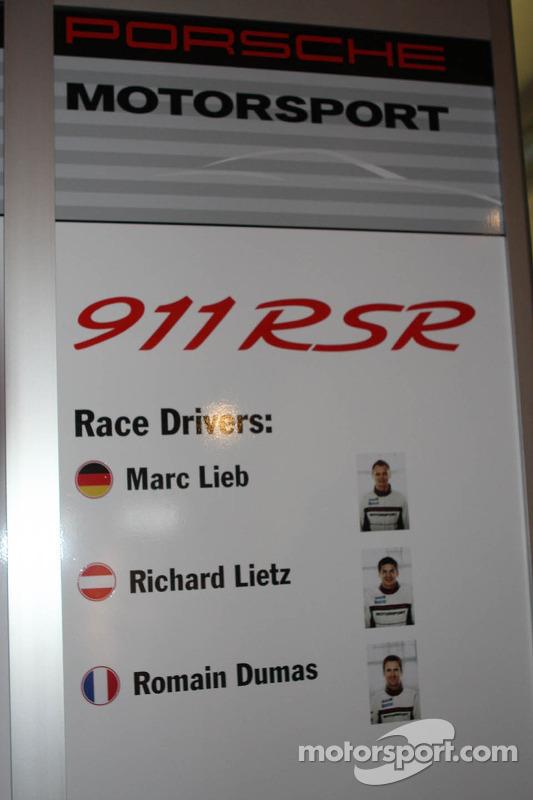 Porsche sinalização