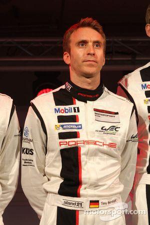 Тимо Бернхард. Презентация Porsche 911 RSR, презентация.