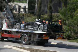 Damage to the #26 G-Drive Racing Oreca 03 Nissan: Roman Rusinov, John Martin, Mike Conway