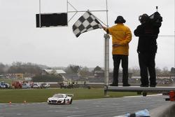#13 Belgian Audi Club Team WRT Audi R8 LMS ultra: Frank Stippler, Edward Sandström takes the checker