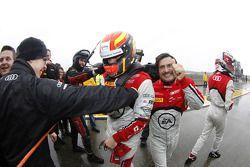 Laurens Vanthoor and Stéphane Ortelli celebrate
