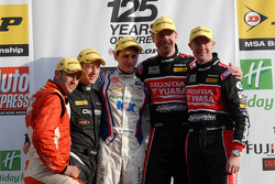 Lea Wood, Sam Tordoff, Gordon Shedden et Matt Neal
