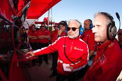 Risi Competizione team members watch qualifying