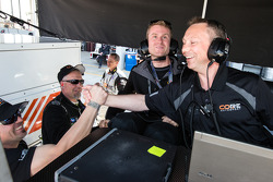 Mark Wilkins celebrates LMPC pole