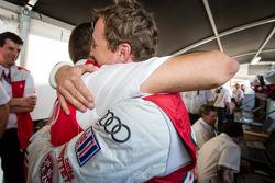 Pole winner Marcel Fässler with Benoit Tréluyer