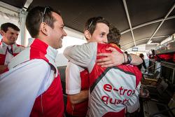 Pole winner Marcel Fässler with Benoit Tréluyer and Oliver Jarvis