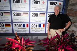 ORECA boss Hugues de Chaunac commemorates his win in 2011 no Sebring International Speedway muro dos