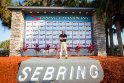 ORECA boss Hugues de Chaunac commemorates his win in 2011 at the Sebring International Raceway wall