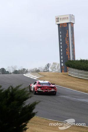 #69 AIM Autosport Team FXDD met Ferrari Ferrari 458: Emil Assentato, Anthony Lazzaro