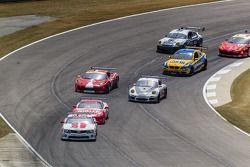 GT start: #57 Stevenson Motorsports Camaro GT.R: John Edwards, Robin Liddell