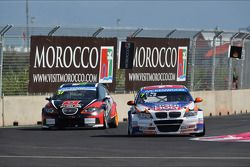 René Münnich, SEAT Leon WTCC, Munnich Motorsport and Charles Ng, BMW E90 320 TC, Liqui Moly Team Engstler