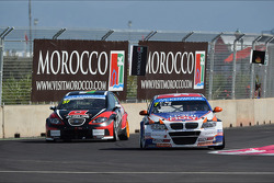 René Münnich, SEAT Leon WTCC, Munnich Motorsport et Charles Ng, BMW E90 320 TC, Liqui Moly Team Engstler