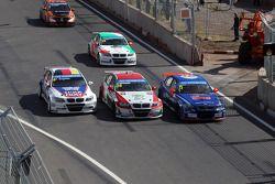 07.04.2013- corrida 1: Franz Engstler, BMW E90 320 TC, Liqui Moly Team , Mehdi Bennani, BMW E90 320