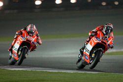 Andrea Dovizioso, Ducati Team et Nicky Hayden, Ducati Team