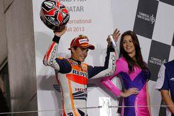Podio: tercero Marc Márquez, del equipo Repsol Honda