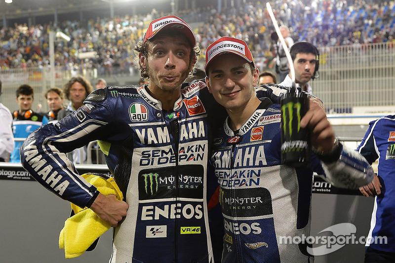 1. Jorge Lorenzo, 2. Valentino Rossi