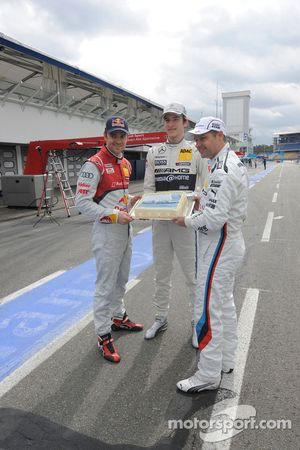 Jamie Green, Audi Sport Team Abt Sportsline; Christian Vietoris, Team HWA; Andy Priaulx, BMW Team RM