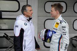 Charly Lamm, Teammanager BMW Team Schnitzer; Dirk Werner, BMW Team Schnitzer