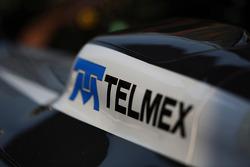 Telmex branding on the Sauber C32