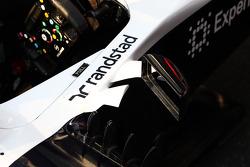 Detalhe do cockpit do Williams FW35