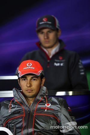 Sergio Pérez, McLaren et Nico Hülkenberg, Sauber