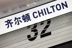 Le panneau Max Chilton, Marussia F1 Team